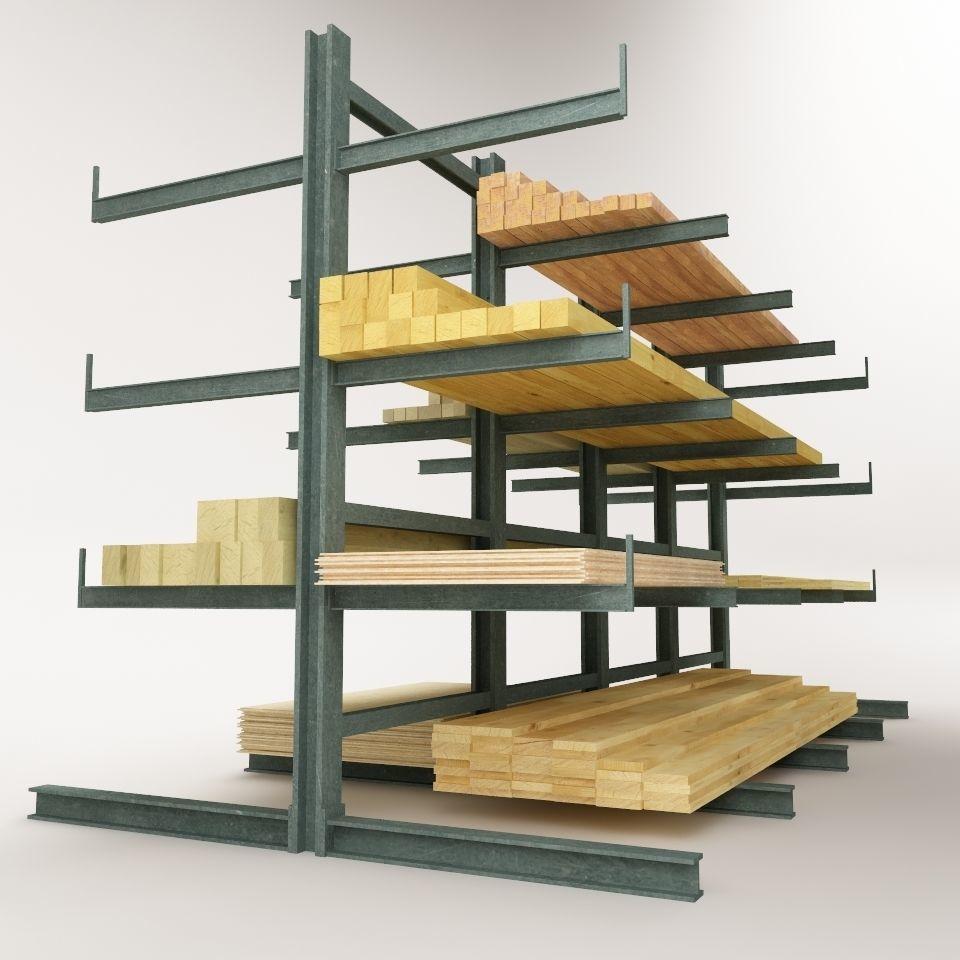 Steel Rack Storage System 01 | 3D model