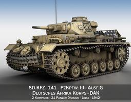 PzKpfw III - Ausf G - DAK - 211 3D Model