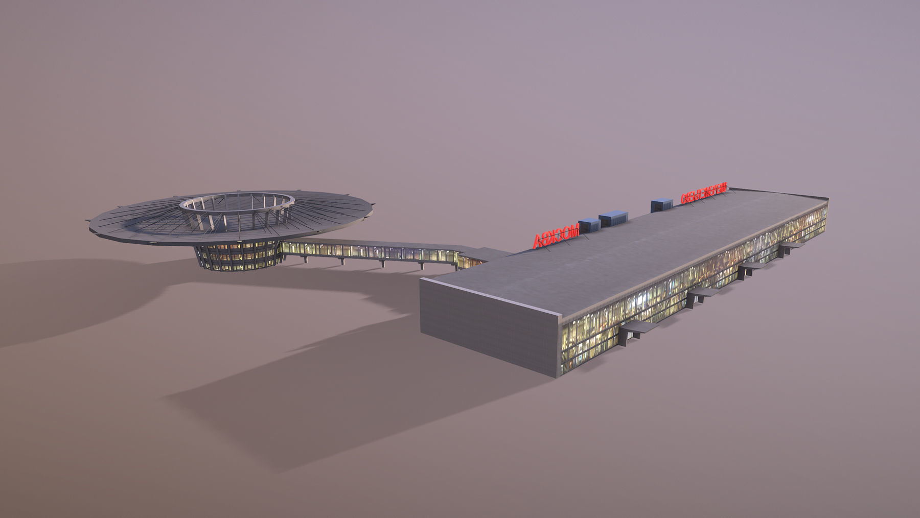 Airport Terminal UUEE Terminal Glass