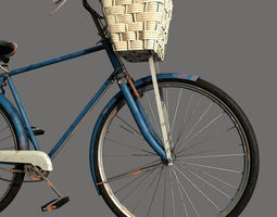 old rusted  bicycle 3d model