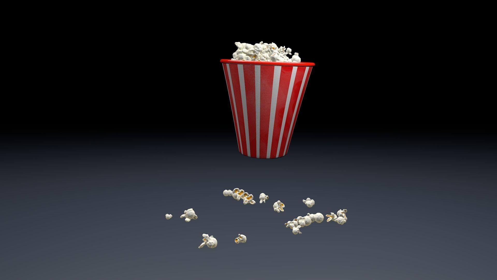 Pop Corn Animated   3D model