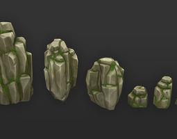 Rock Formation Pack 4 3D asset