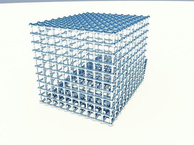 Cube Grid 3d Cgtrader