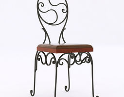 3d model wrought iron chair