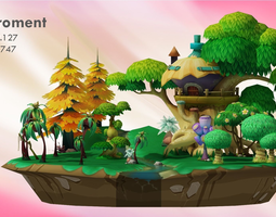 Cartoon forest 3D model