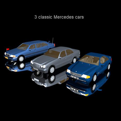 mercedes cars 3 3d model fbx 1