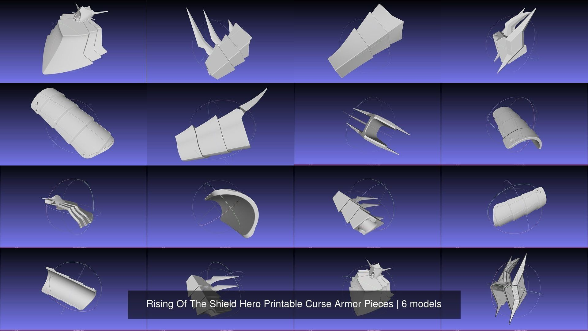 Rising Of The Shield Hero Printable Curse Armor Pieces