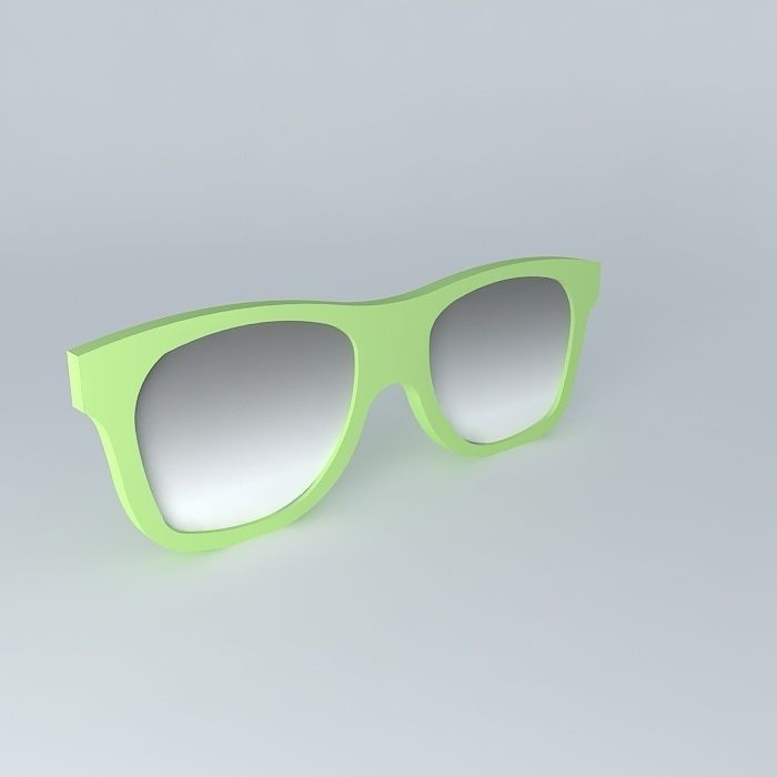 Mirror green spectacles