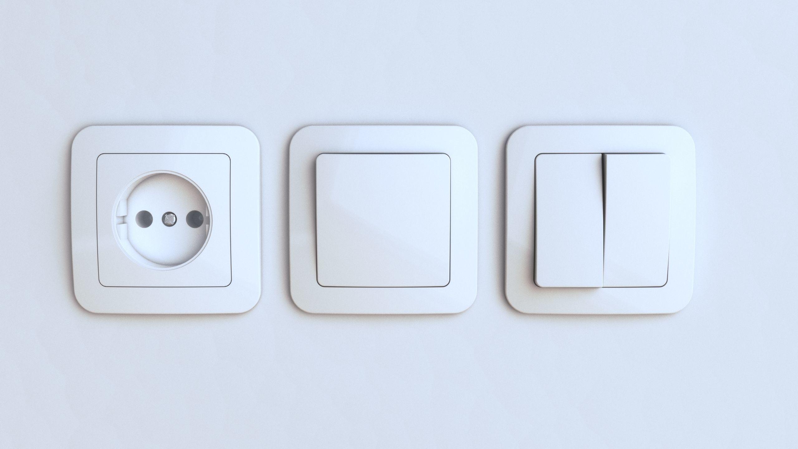EU wall socket and light switch FREE