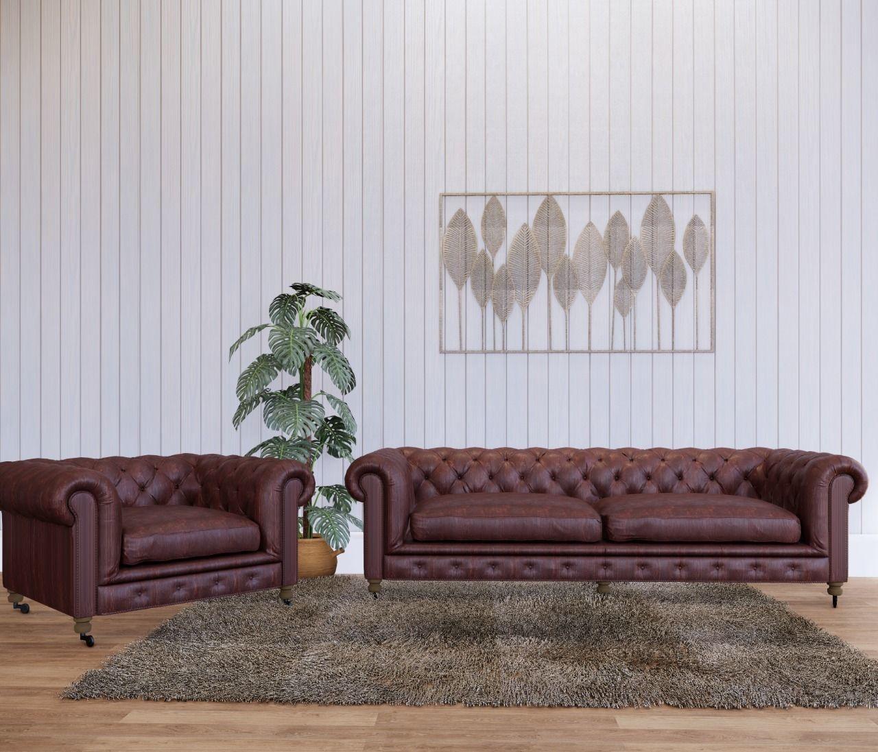 3D Model Sofa And Armchair Capitone