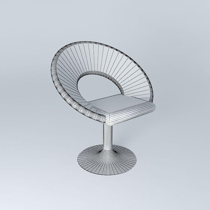 ... Silver Armchair Pop Art 3d Model Max Obj Mtl 3ds Fbx Stl Dae 4 ...