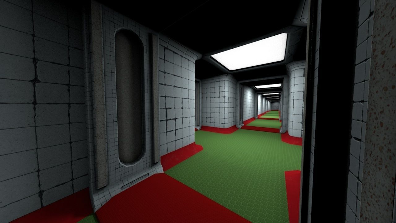 Abandoned Hospital Corridor Next-Gen Game Modular PBR Set