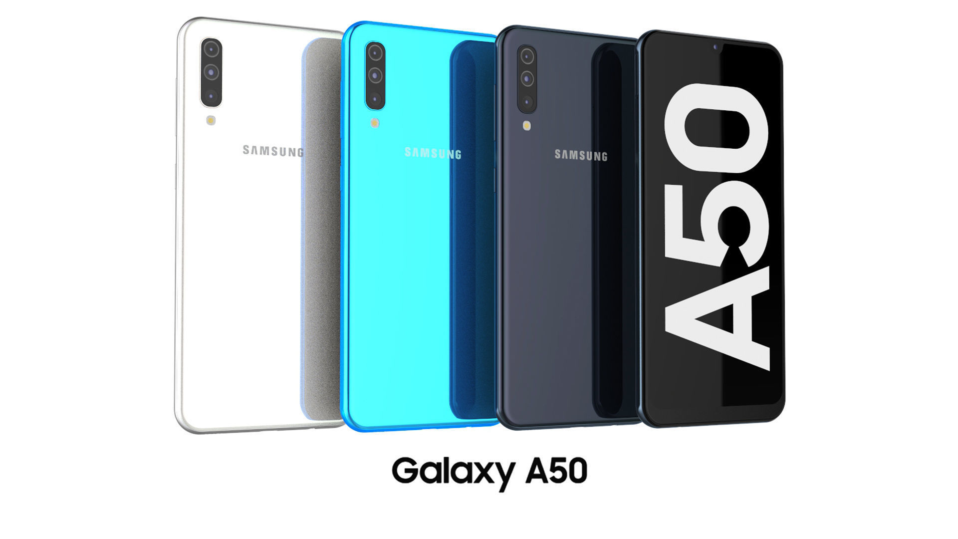 Samsung Galaxy A50 Collection 3d Model Cgtrader