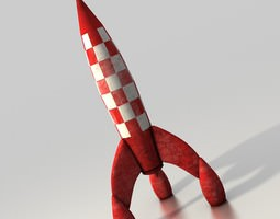 3d model 3d printable model low-poly toy rocket