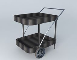 Trolley black ANTIBES houses the world 3D Model