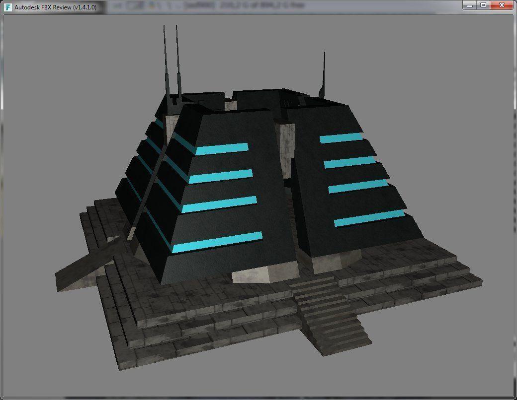 Pyramid Structure Sci-Fi