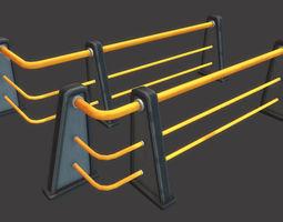 Railing Set 01 3D model