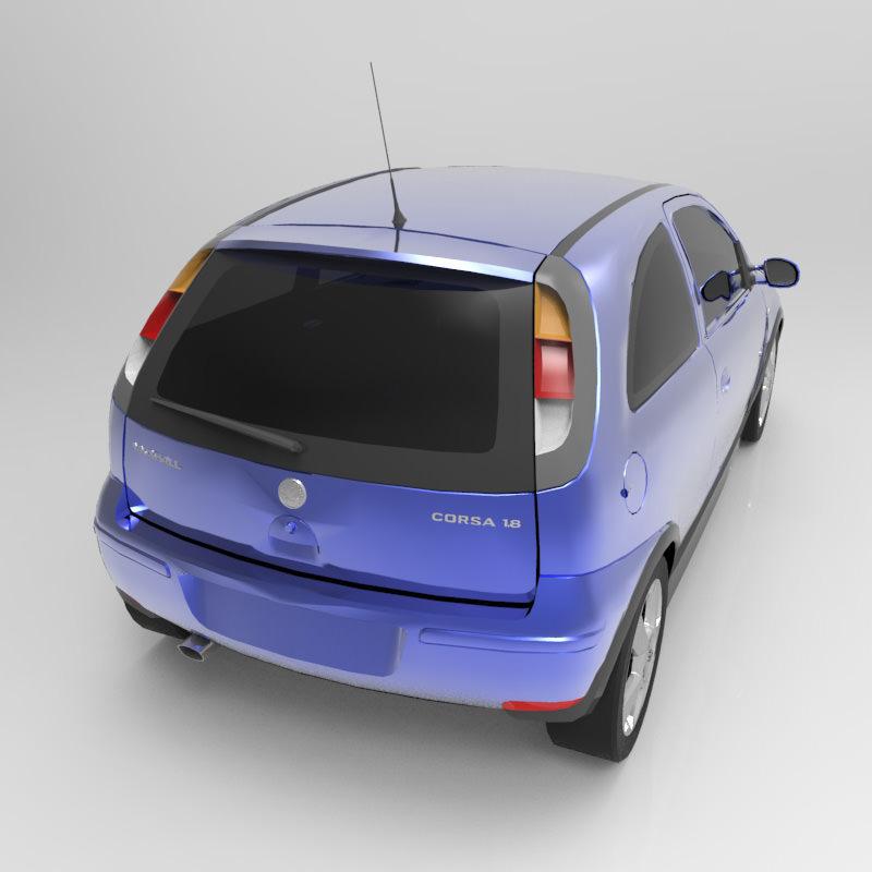 Vauxhall Corsa SRI 2004 3D Model OBJ