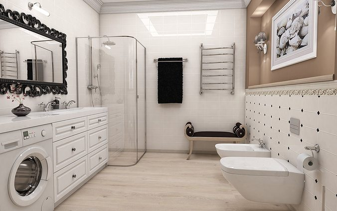 Classic Style Bathroom 3d Cgtrader