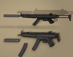 3D MP5 rifle