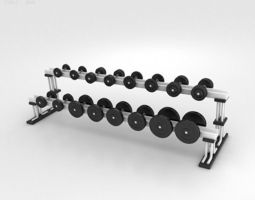 Dumbbell Rack 3D