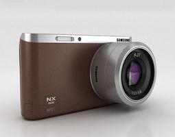 samsung nx mini smart camera brown 3d model max obj 3ds fbx c4d lwo lw lws