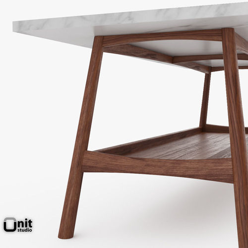 Reeve Mid-Century Rectangular Coffee Table... 3D Model MAX