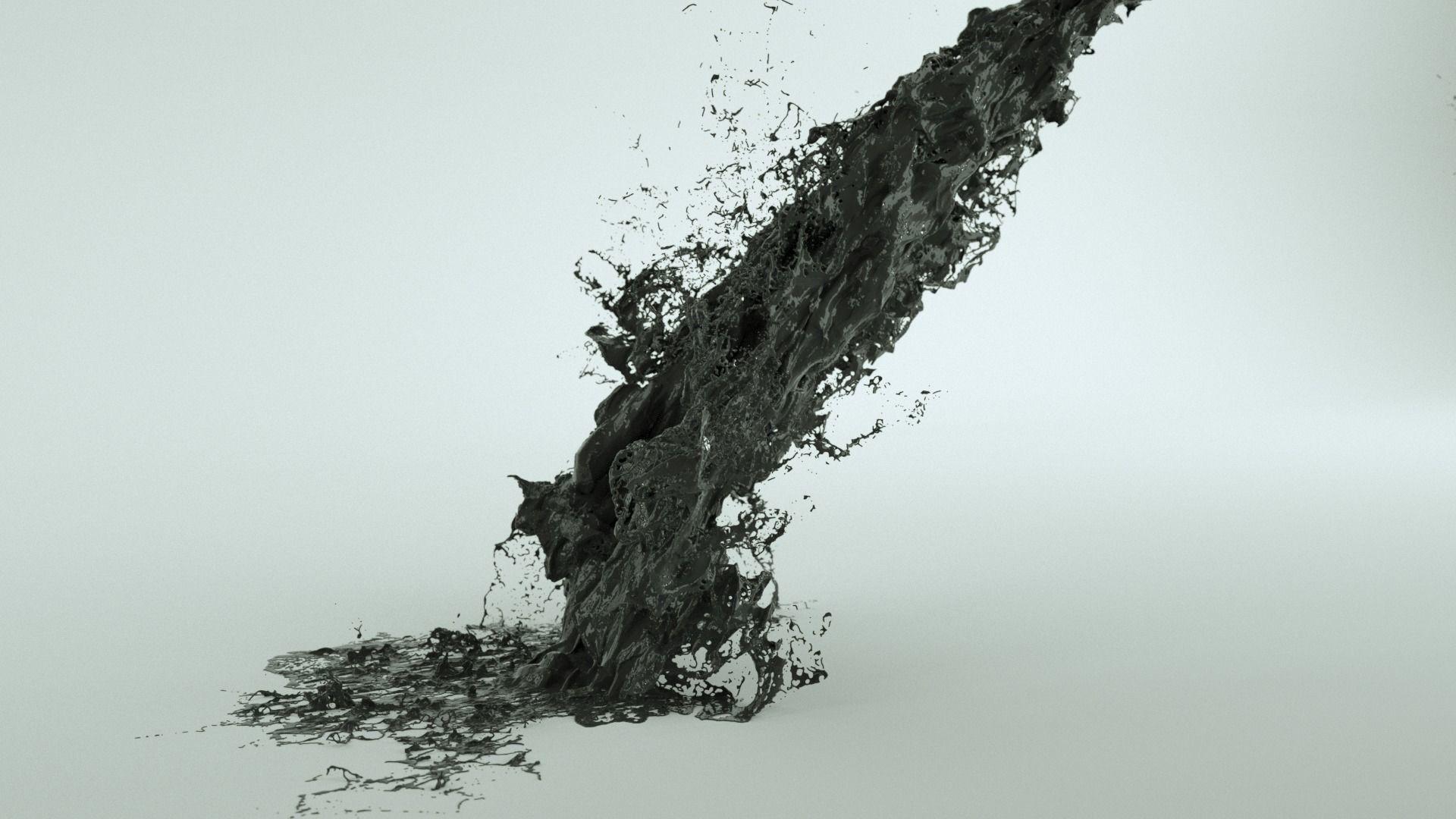 Black Fluid Abstract