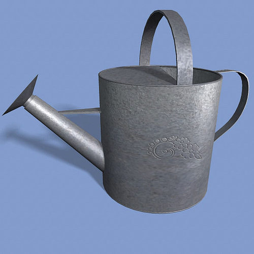 watering can 3d model low-poly obj fbx ma mb mtl 1