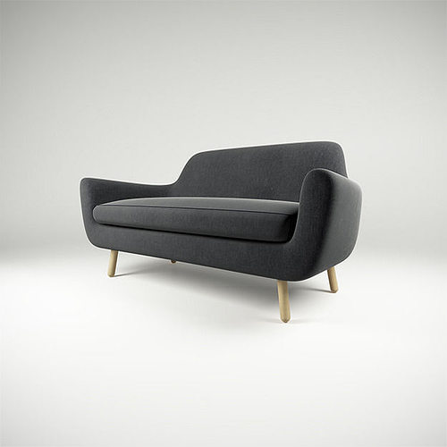 Sofa Jonah Dark Grey Model Max Obj Mtl S Fbx 1