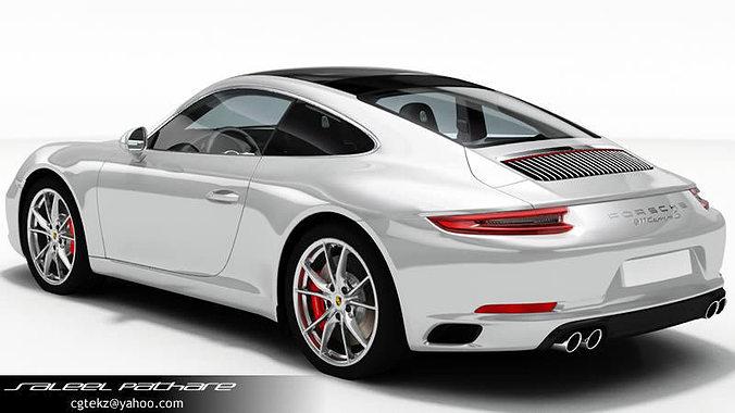 3d Porsche 911 Carrera S 2018 Cgtrader