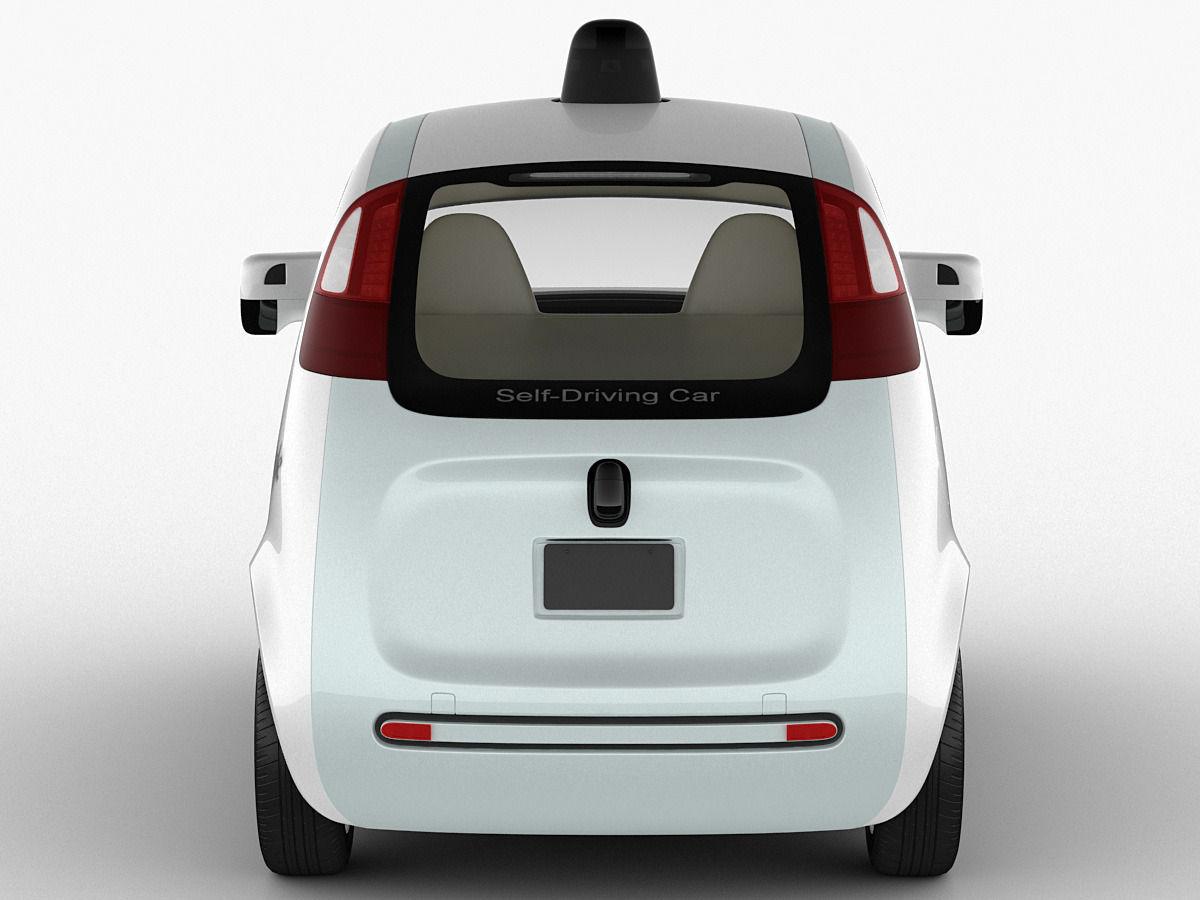 Google Self Driving Car 3d Cgtrader