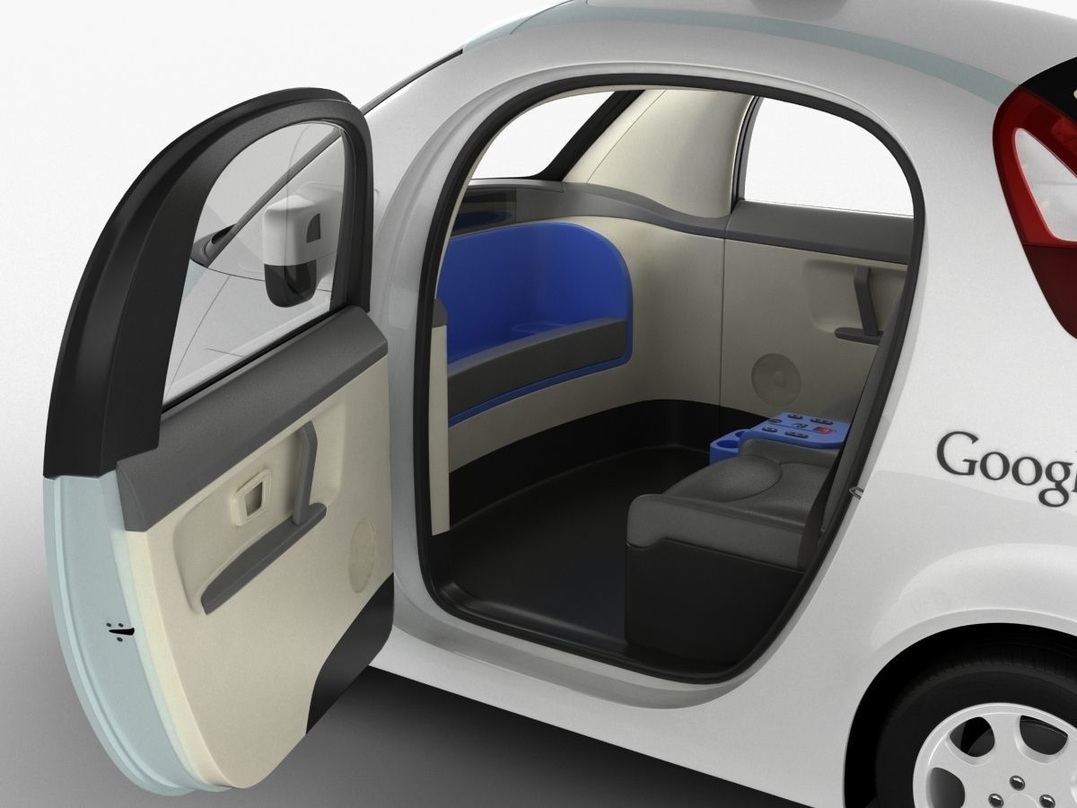 google self driving car 3d model max obj 3ds fbx c4d lwo lw lws. Black Bedroom Furniture Sets. Home Design Ideas