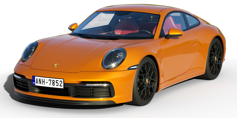 Porsche 911 Carrera S 2019 3d Cgtrader