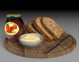 3D model bread plate