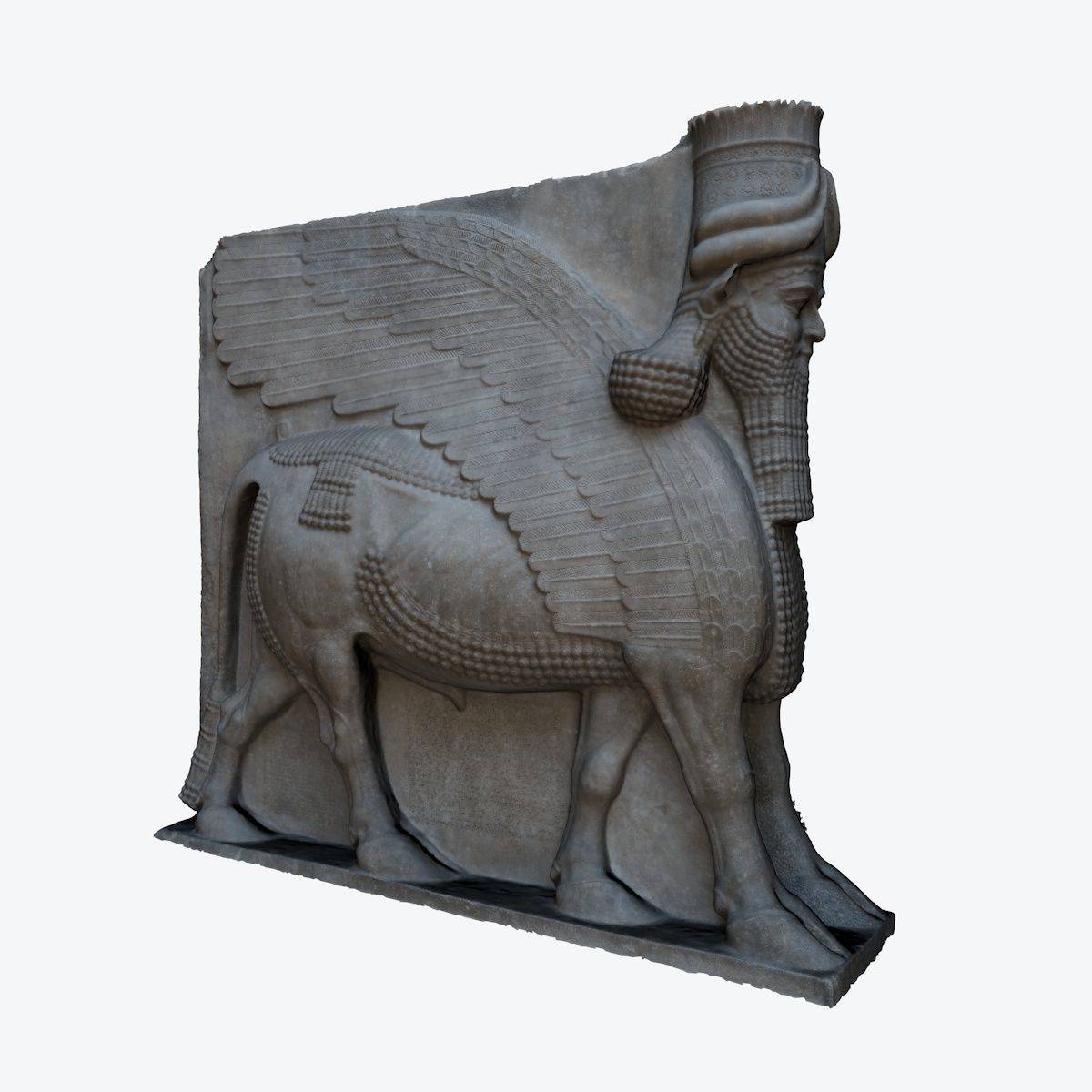 ASSYRIAN STATUE - WINGED BULL OF KORSABAD
