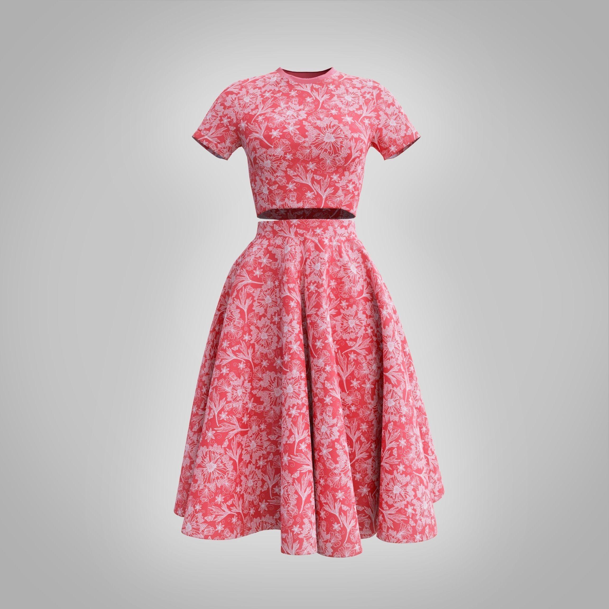 fancy dress - croptop and circle skirt