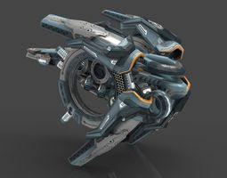 drone v9 cybertech 3d model game-ready