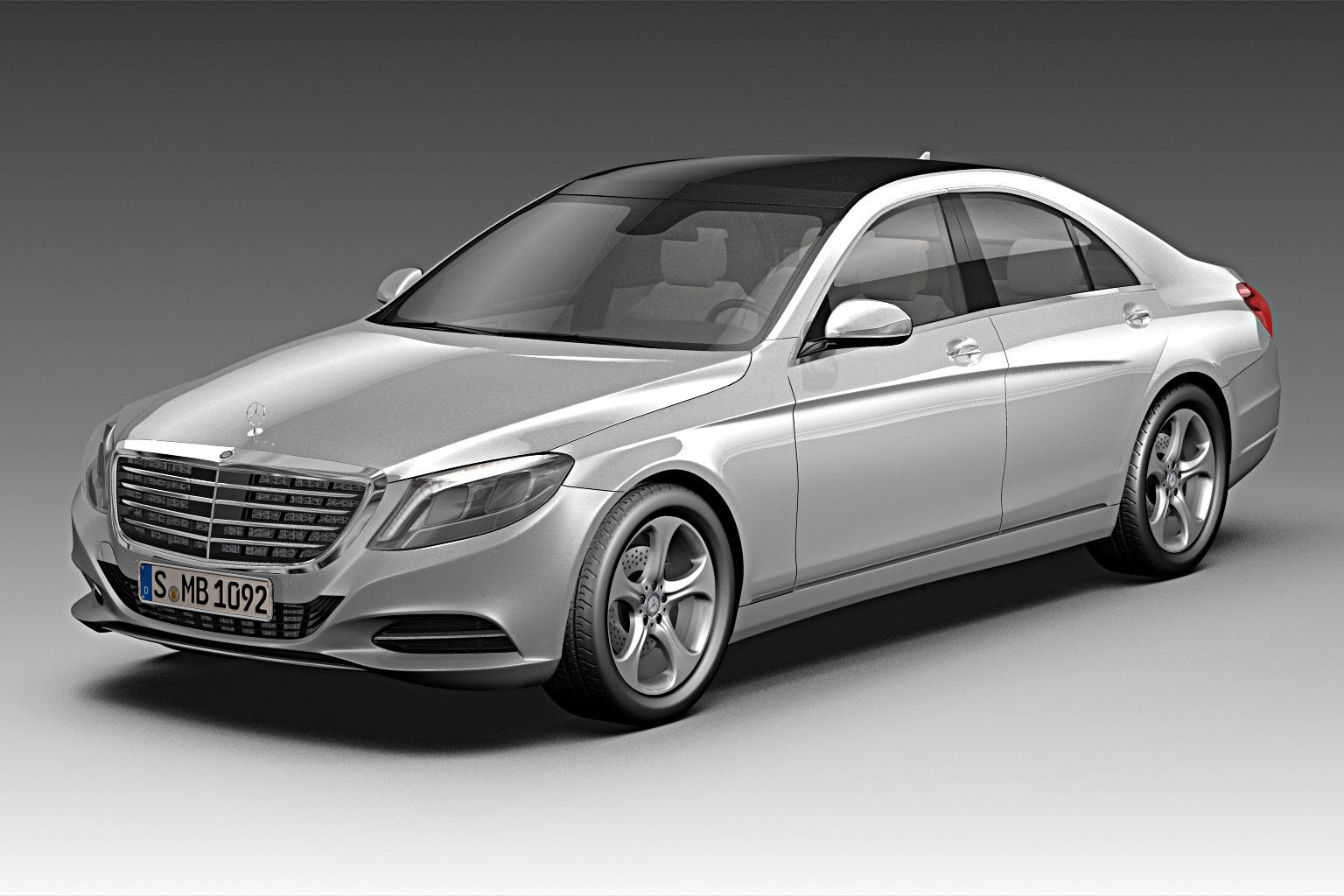 2014 mercedes benz s class 3d model max obj 3ds fbx c4d for Mercedes benz s models