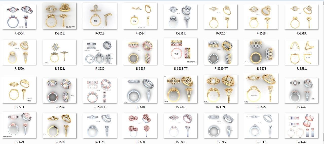 650 Ring Earrings Pendant Bracelets Necklace 3dm bulk collection