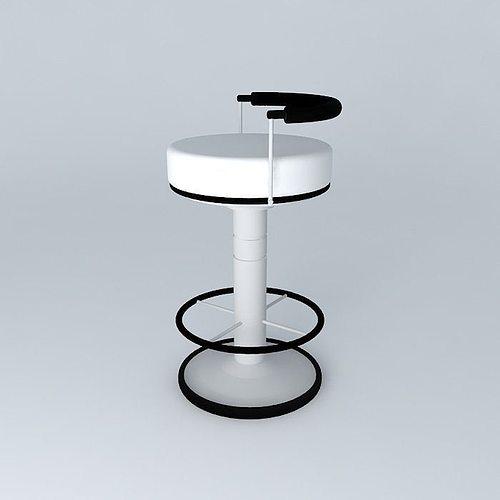 Sailor Stool High Barstool Modern Free 3d Model Max Obj