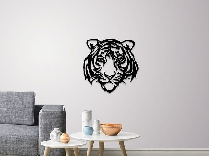 Tiger face wall decoration