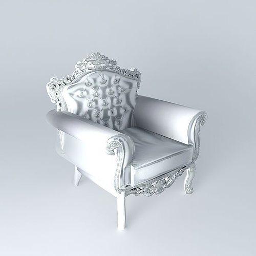 Baroque Chair 3D Model