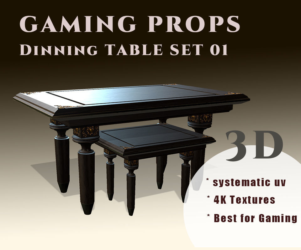 Gaming Props - Dinning Table Set