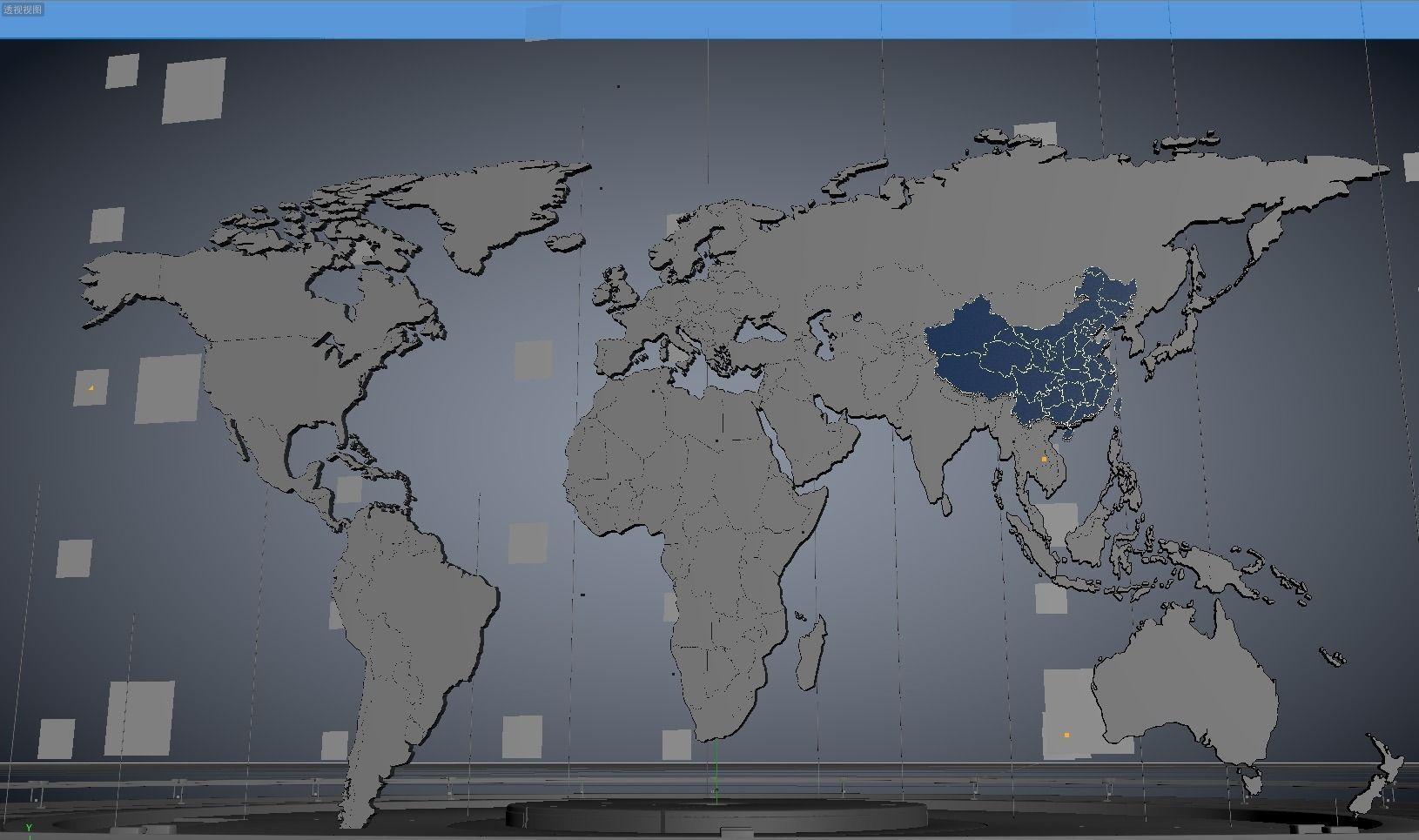 3d cinema 4d world map cgtrader cinema 4d world map 3d model fbx c4d 4 gumiabroncs Gallery