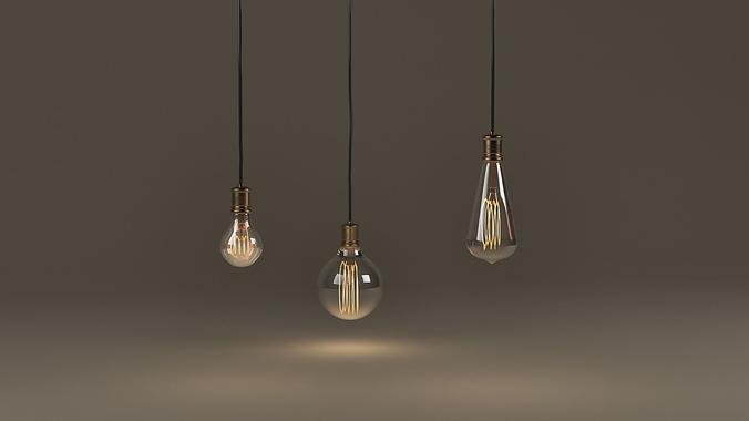 Vintage Bulbs 3d Cgtrader