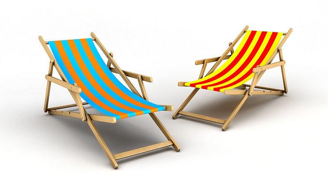 Attractive Beach Chair 3D Model