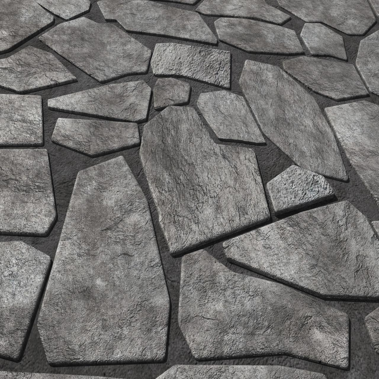 Rock Tiles 3D Model OBJ FBX MA MB | CGTrader.com on Tile Models  id=64913