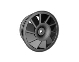 3d printable model rc car drift wheel turbine   width 24mm   offset plus 4mm