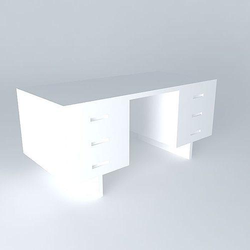 Desk Morgan Conran Shop Without Textures 3d Model Max Obj